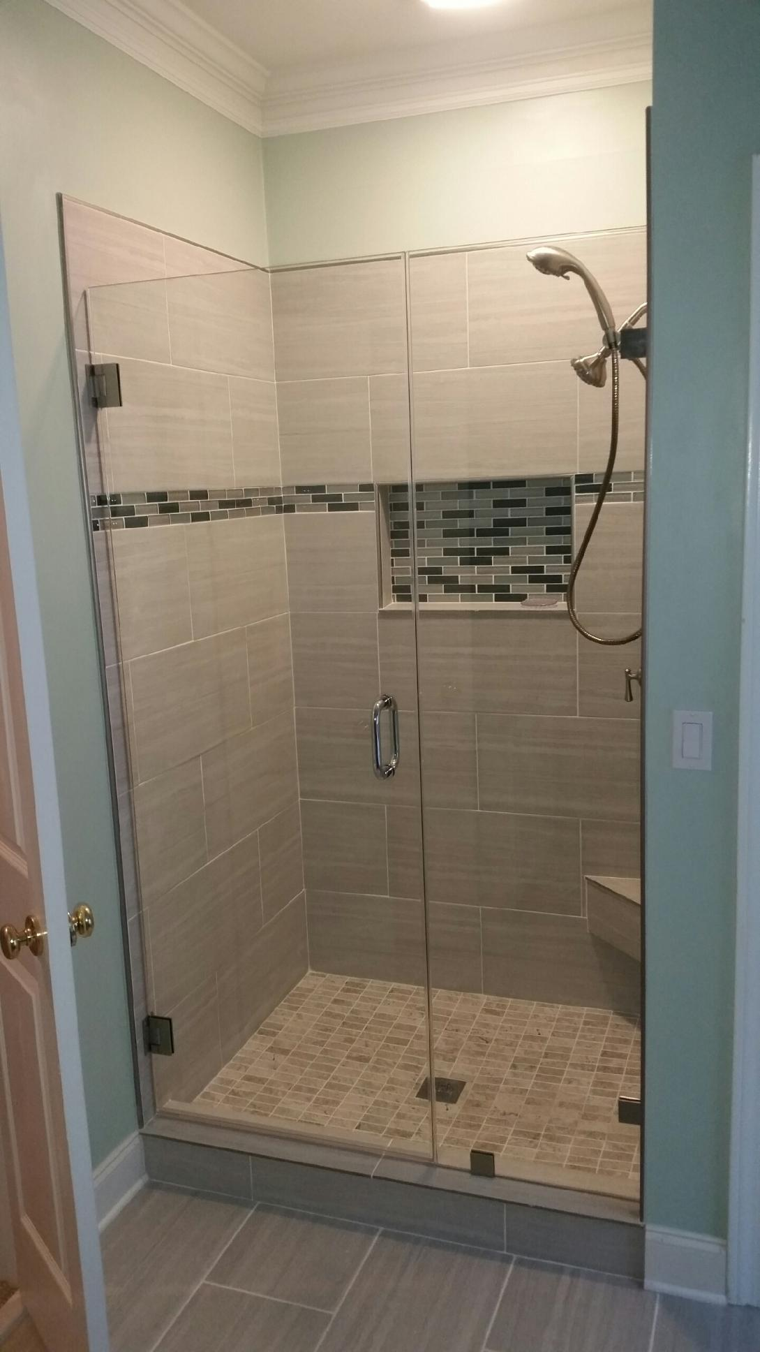 Frameless Glass Shower Door Install Atlanta 003