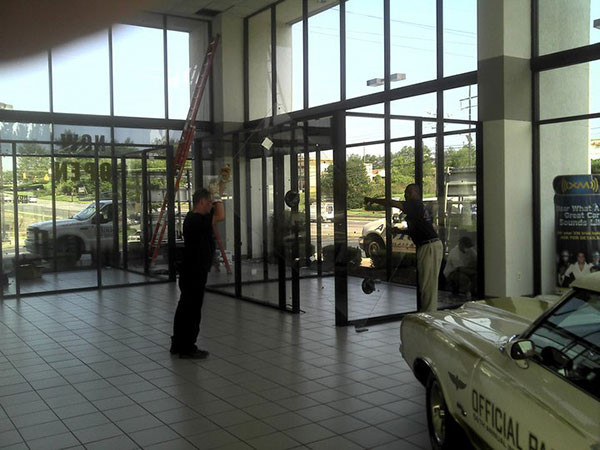 Custom Glass Partitions For A Storefront Near Atlanta, Roswell and Sandy Springs, Georgia