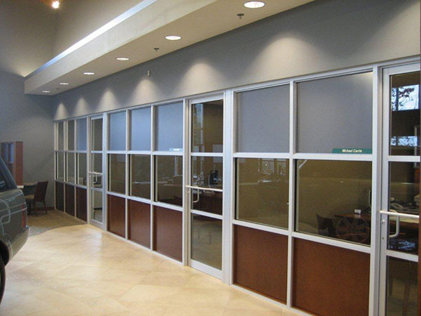 Tinted Glass Partitions For An Auto Dealership Near Atlanta, Roswell and Sandy Springs Georgia