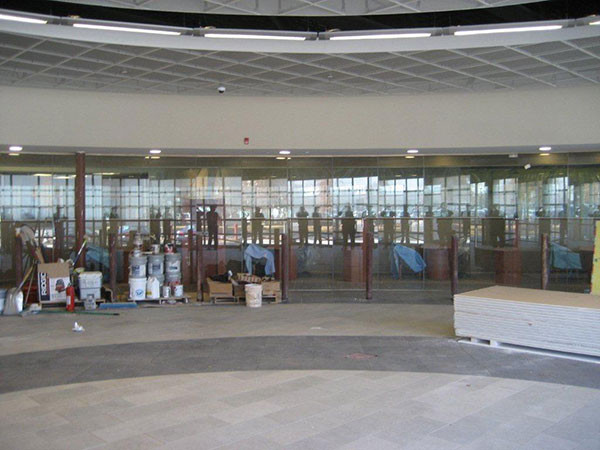 Glass Partition Lobby Installation Near Atlanta, Roswell and Sandy Springs, Georgia