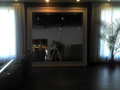 Beveled Glass Mirror Installation For A Home Near Atlanta, Roswell and Sandy Springs, Georgia