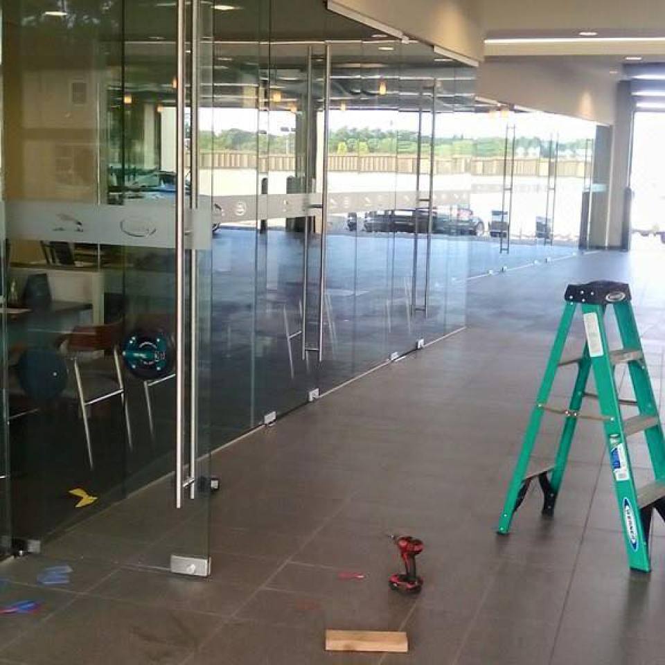 Glass partition installation near Atlanta, Roswell and Sandy Springs, Georgia