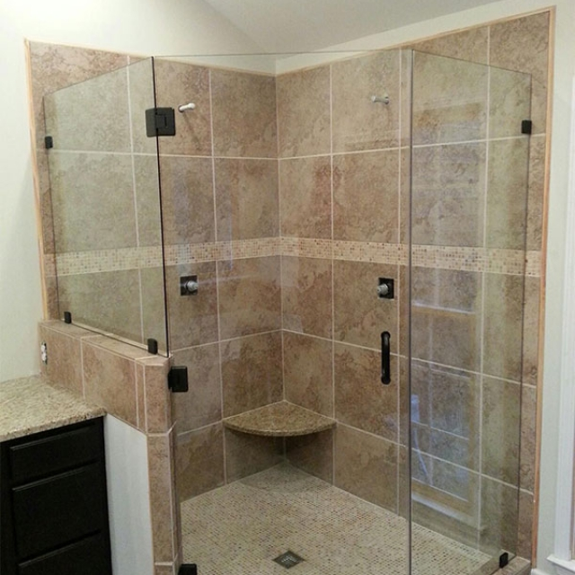 Custom Frameless Shower Door and Enclosure Near Atlanta, Roswell and Sandy Springs, Georgia
