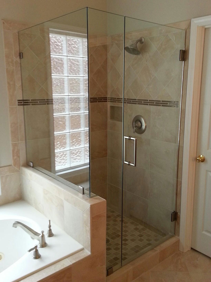 georgia frameless shower doors for a home near atlanta roswell and sandy springs