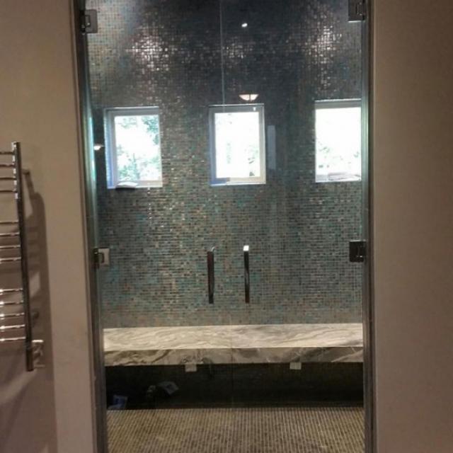 Shower Doors With Frameless Glass Installed Near Atlanta, Roswell and Sandy Springs, Georgia