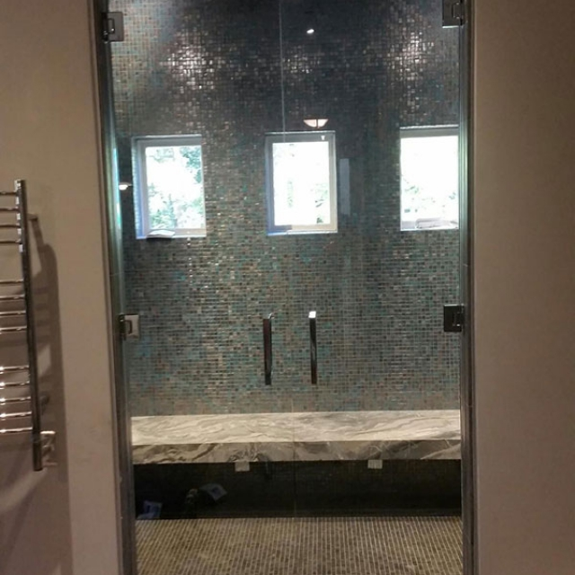 Shower Doors With Frameless Glass Installed Near Atlanta, Roswell and Sandy Springs, Georgia