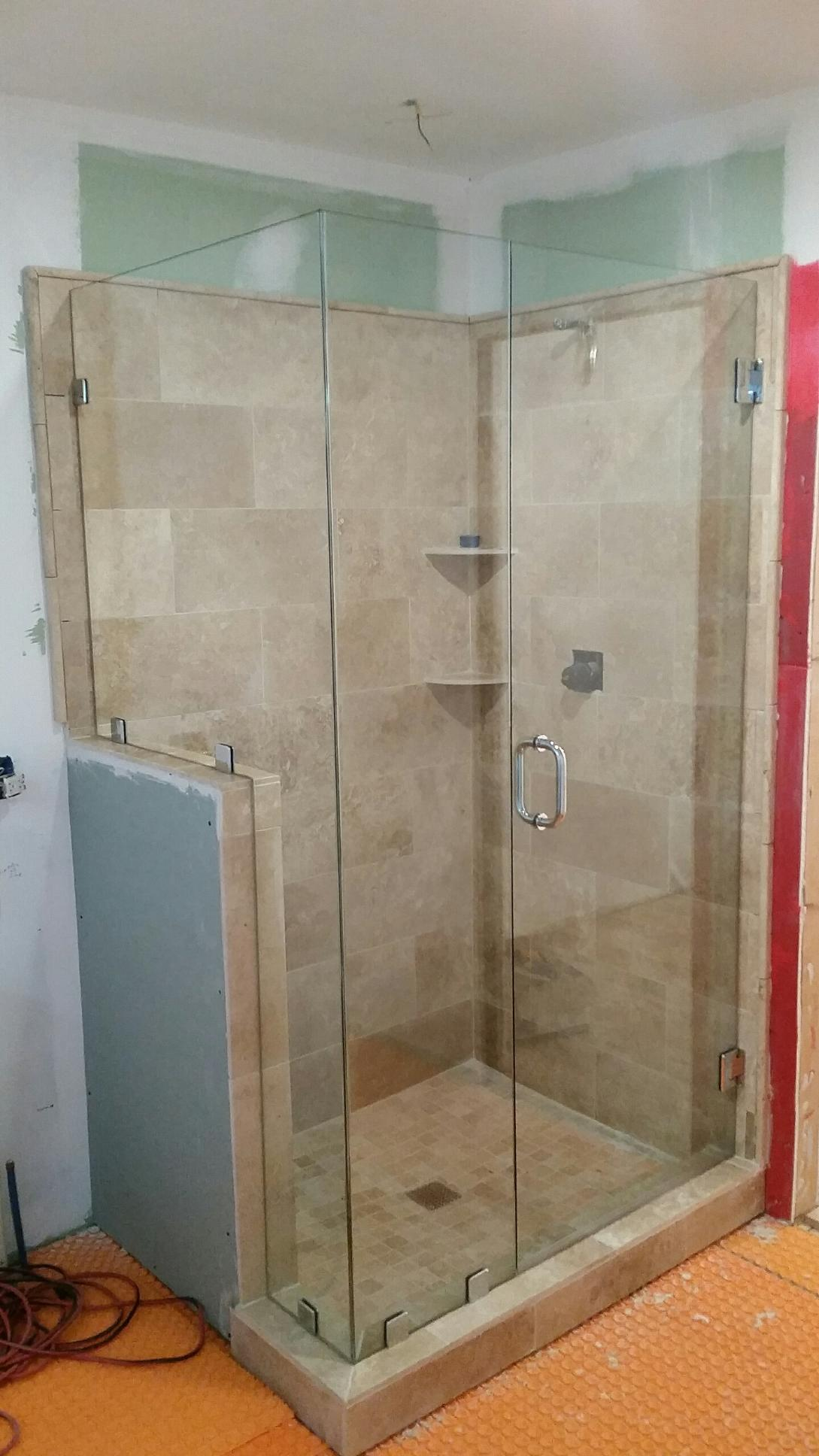 Frameless shower doors custom glass shower doors atlanta ga custom shower installation with frameless doors near atlanta roswell and sandy springs georgia beveled frameless glass planetlyrics