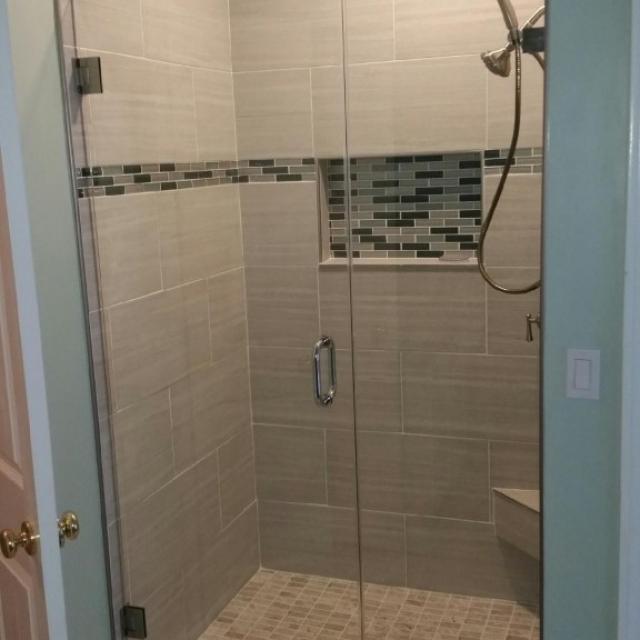 Frameless Glass Shower Doors For A Home Near Atlanta, Roswell and Sandy Springs
