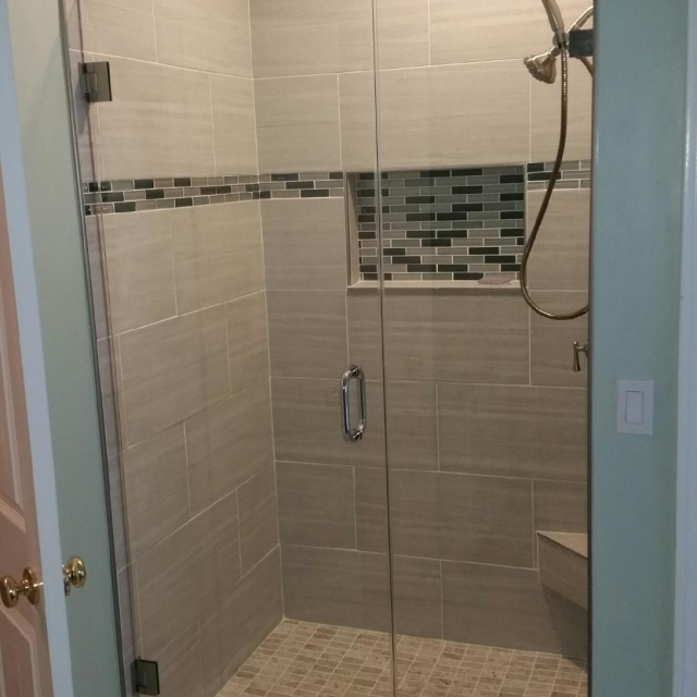frameless glass shower doors for a home near atlanta roswell and sandy springs