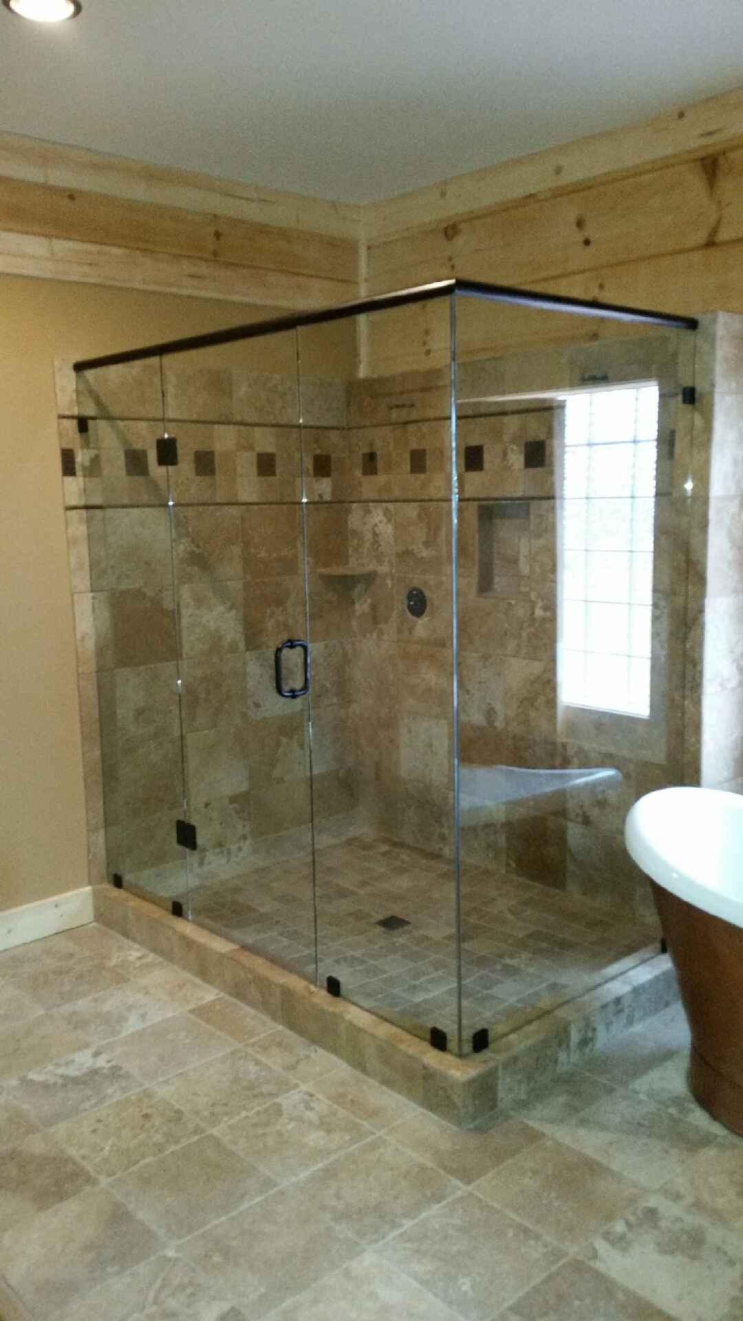 frameless glass shower near atlanta roswell and sandy springs