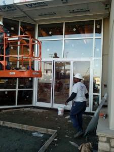 Under Construction Hennessy Jaguar - Land Rover Northpoint Dealership Storefront in Alpharetta, GA