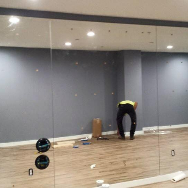 Custom Mirror Wall For A Health Club Near Atlanta, Roswell and Sandy Springs, Georgia