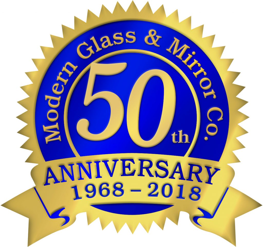 A Modern Glass 50th Anniversary Seal
