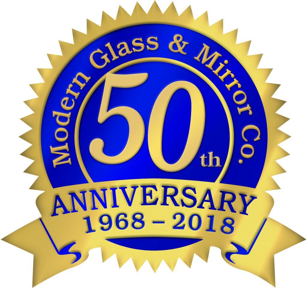 A Modern Glass 50th Anniversary Seal